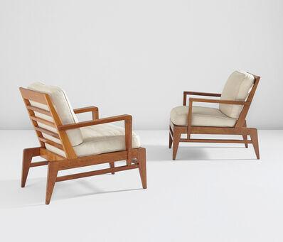 René Gabriel, 'Pair of armchairs', 1940s