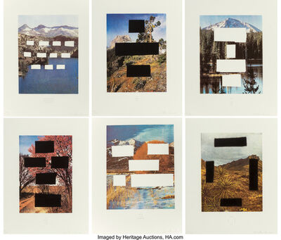Ed Ruscha, 'Set of 6 works from Country Cityscapes', 2001
