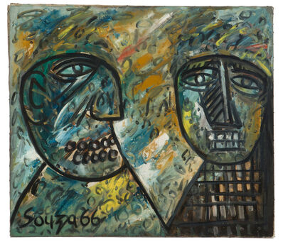 Francis Newton Souza, 'Portrait of Jerome and Marcel', 1966