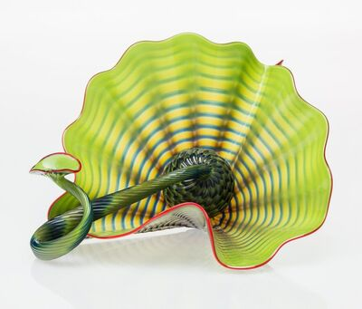 Dale Chihuly, 'Two Chartreuse Persian Forms with Red Lip Wraps', circa 1995