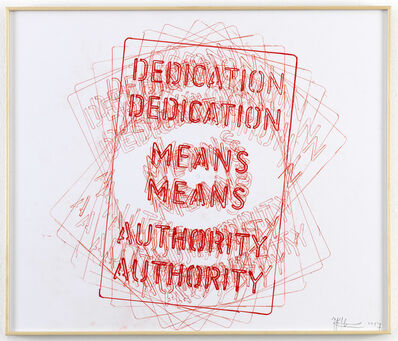 Job Koelewijn, 'Untitled [Dedication means Authority]', 2017
