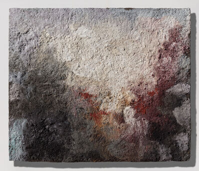 Orazio De Gennaro, 'Terra Bruciata (Scorched Earth) - Small abstract red and black painting', 2017