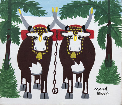 Maud Lewis, 'Pair of Oxen'