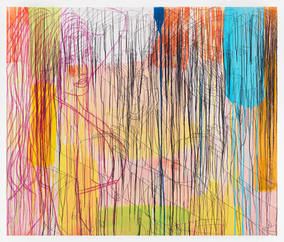 Ghada Amer, 'Lady In Purple-RFGA', 2016