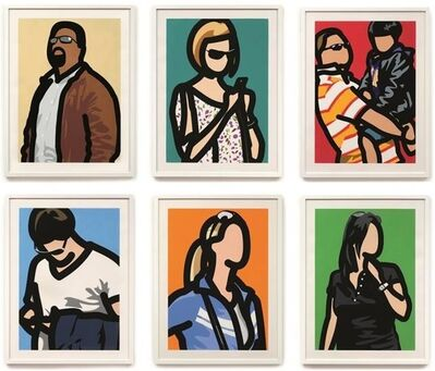 Julian Opie, 'Tourists (Set of six)', 2014