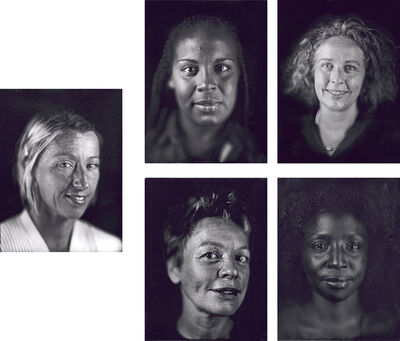 Chuck Close, 'Cindy, Ellen, Kiki, Laurie, Lorna', 2000