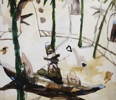 Mie Olise Kjærgaard, 'Horse with Bag and Man Towards the Island', 2018