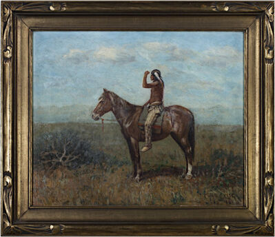 Charles Craig, 'Native American on Horseback (To be sold as pair with 11060g-Cowboy on Horseback)', 1968