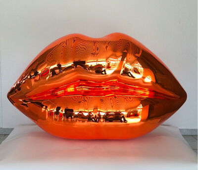 Niclas Castello, 'The Kiss (shiny orange)'