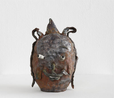 Joakim Ojanen, 'Raku Shiny Rust Head With Special Smile', 2018