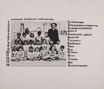 Agliotti, 'Smettete di giocare nella strada', 1975
