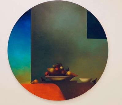 Michael Gallagher, 'Large Tondo Tabletop (Still-Life with Birds and Pears)', 2020