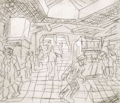 Leon Kossoff, 'The Booking Hall', 1982