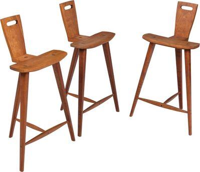 Style of Tage Frid, 'Three Barstools', circa 1970s
