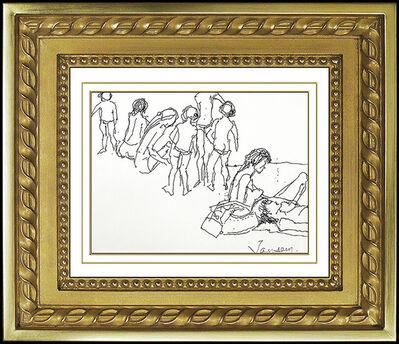 Jean Jansem, 'Jean Jansem Original Ink Drawing HAND SIGNED Authentic Artwork Portrait Framed', 20th Century