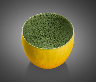 Joshua Bernbaum, 'Introverre Yellow and Green Vessel', 2015