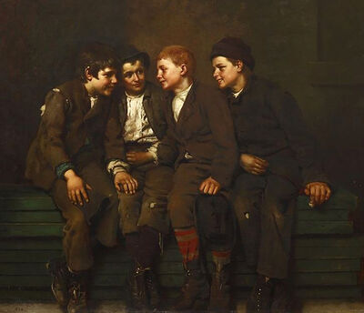 John George Brown, 'The Confab', 1882