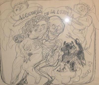 Fernando Botero, 'La Alegoria de la Lujuria'