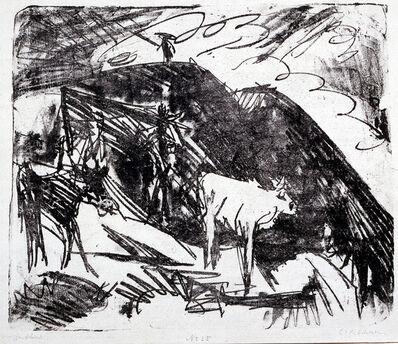 Ernst Ludwig Kirchner, 'Kühe in den Bergen (Cows in the Mountains)', 1919