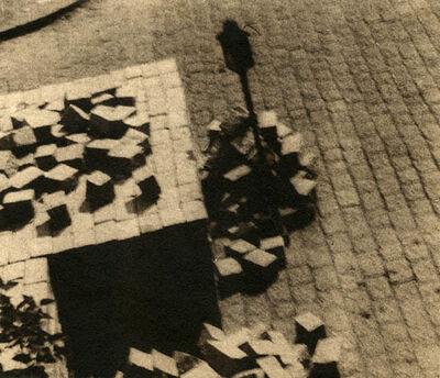 Stanislav Konecny, 'Paving Blocks and Lamp', 1930s