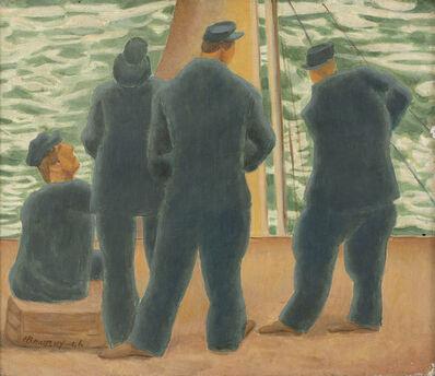 Horace Ascher Brodzky, 'Men on a Boat', 1946