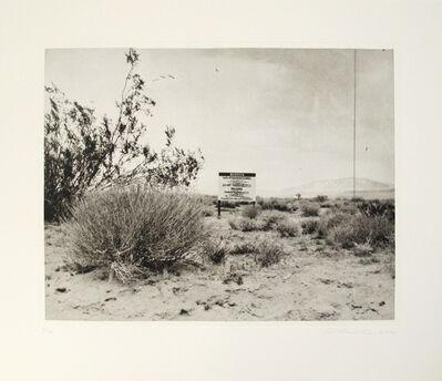 Ed Ruscha, 'Desert Gravure', 2006