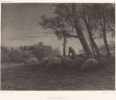 Charles Émile Jacque, 'Crepuscule poetique (Poetical Twilight)'