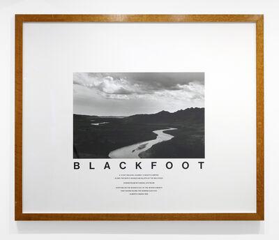 Hamish Fulton, 'Blackfoot (Canada)', 1999