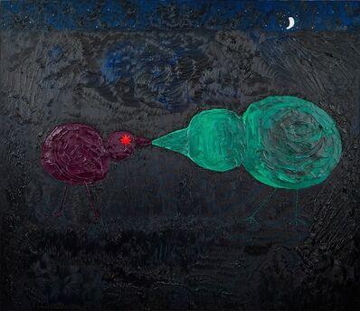 Ecaterina Vrana, 'Kissing Chicks with Silver Moon', 2015