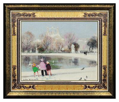 Jules René Hervé, 'Jules R Herve Original Painting Oil On Canvas Paris Cityscape Portrait Signed', 20th Century