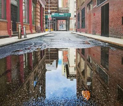 Richard Combes, 'Autumn Reflections Staple Street Manhattan', 2021