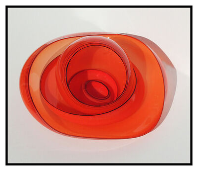 Dale Chihuly, 'Dale Chihuly 5 Piece Original Basket Set Blown Glass Hand Signed Red Black Large', 1989