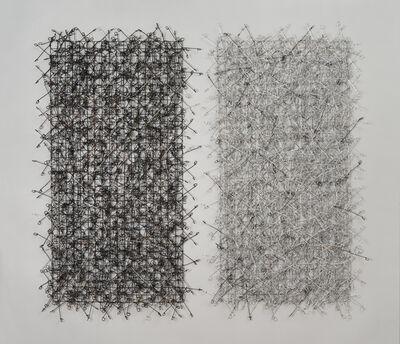 John Garrett, 'Circle Grid Diptych', 2015
