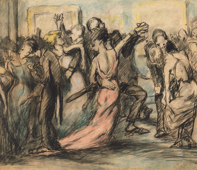 George Wesley Bellows, 'Society Ball [verso]', ca. 1907