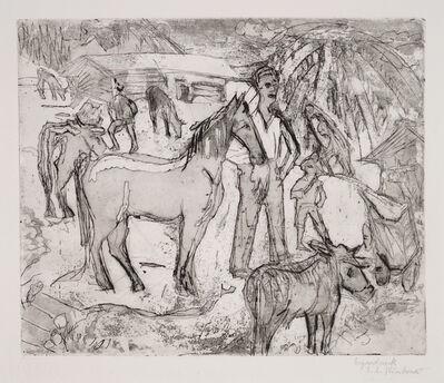 Ernst Ludwig Kirchner, 'Alpszene mit Pferd (Scene in the Alps with Horse)', 1922