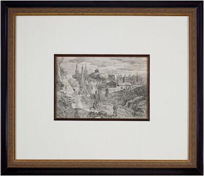 Jan Frans van Bloemen, called Orizzonte, 'Figures Outside the Monastery', 1670-1746