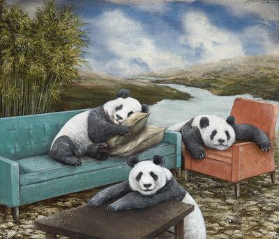 Tyson Grumm, 'Relaxing Pandas', 2019