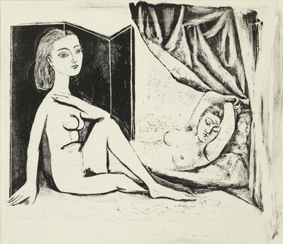 Pablo Picasso, 'Les Deux Femmes nues, State 8a, 5th January 1946', 1946