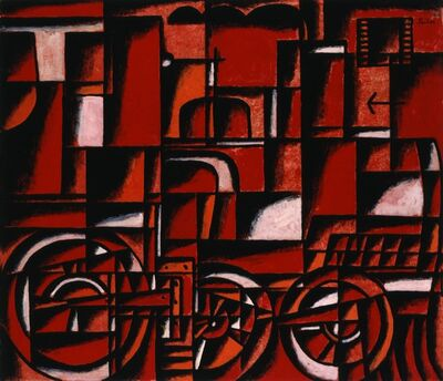 Manuel Pailós, 'Locomotive in Red and Black', 1958