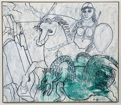 Grace Hartigan, 'Amazon and Dragon', 2002