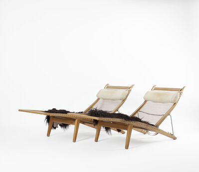 Hans Jørgensen Wegner, 'A pair of deck chairs', 1958