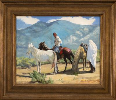 "Roseta Santiago, 'Taos Afternoon (after Oscar E. Berninghaus painting titled ""Ricardo and His Horses"")', 2020"