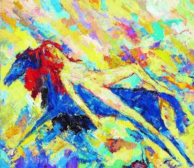 Boris Chetkov, 'Woman on a Blue Horse', 2003