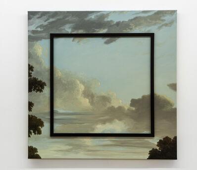 Max Gómez Canle, 'Cielo inanimado azul (marco menguante)', 2014