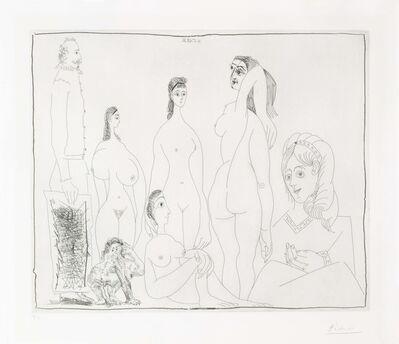 Pablo Picasso, 'Peintre longiline avec des femmes, dont une petite pisseuse, from La Série 347', 1968