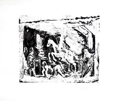 Pablo Picasso, 'Rapt avec Celestine, ruffian, fille et seigneur avec son valet', 1968