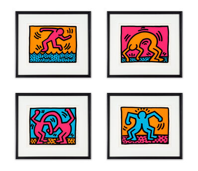 Keith Haring, 'Pop Shop II (set of four)', 1988