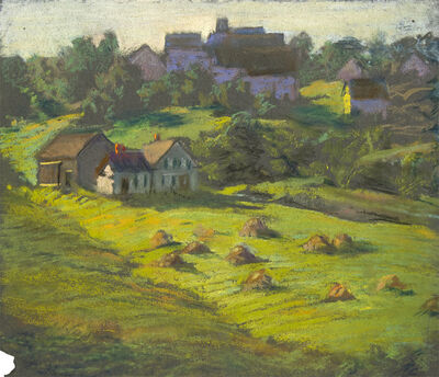 William Partridge Burpee, 'GREEN FIELDS WITH HAYSTACKS'