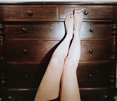 Jo Ann Callis, 'Legs on Dresser', ca. 1976-1977