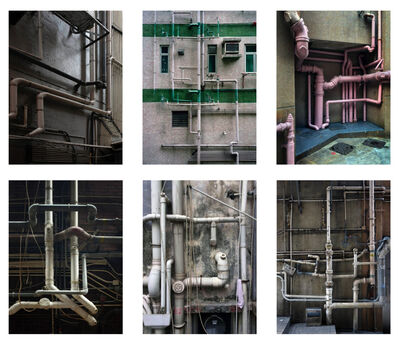 Michael Wolf, '#14, Hong Kong pipes, MFT group', 2014